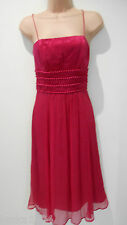 Phase Eight rose fin bracelet 100% soie Parti Prom dancing dress-size 12