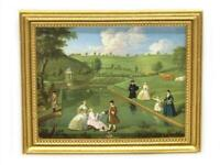 Dolls House The Lake Picture Painting in Gold Frame Miniature Accessory 1:12