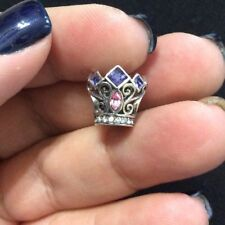 *Authentic* Chamilia Disney Princess Royal Crown W/Swarovski Crystal Charm