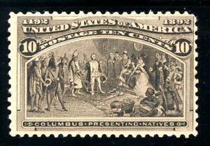 USAstamps Unused FVF US 1893 Columbian Expo Presenting Natives Scott 237 MNH
