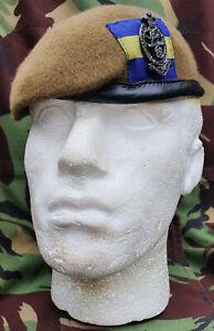 Princess of Wales`s Royal Regiment PWRR Beret & Cap Badge New Smal Crown 56-62