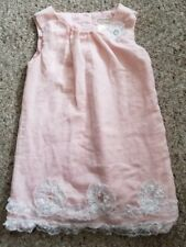 KAISELY Sparkly Pink Lace Trimmed Sleeveless Dress Girls Size 5-6
