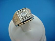HIGH END 14K YELLOW GOLD 0.75 CT VS-QUALITY DIAMOND MEN'S GYPSY SOLITAIRE RING