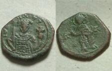 Rare Genuine Ancient Byzantine Coin John II Comnenus Cross Christ Gospels 1118AD
