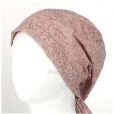 womens SUMMER Bandana Do-rag BEANIE hat Cotton Du-rag chemo cap BAN Pink