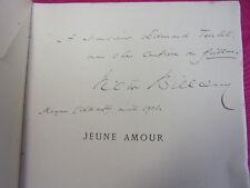 ENVOI AUTOGRAPHE  / JEUNE AMOUR ( Poésies )  Victor Billaud