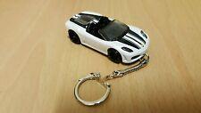 Diecast Ferrari F430 Spider White Toy Car Keyring / Keychain NEW