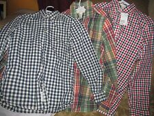 MEN'S LOT OF 3 H&M SIZE SMALL REGULAR FIT PLAID SHIRTS NEW