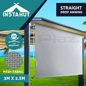 Instahut Outdoor Blind Privacy Screen Roll Down Awning Canopy Retractable Window