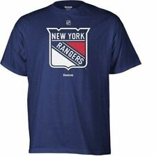 NY RANGERS ADULT REEBOK NAVY PRIMARY LOGO SHIRT NEW & OFFICIALLY LICENSED SMALL