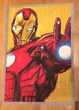 Marvel Comics Super Hero Avengers Iron  Man Material /Fabric Remnant .