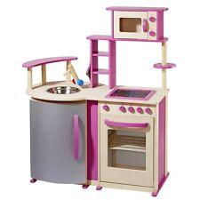 howa Spielküche / Kinderküche aus Holz natur/pink 4813
