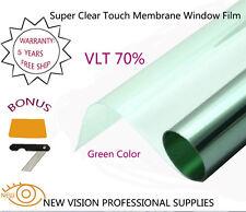 Green Window Tint Film SRC VLT70% 76cmX6m 2PLY 2Mil Automotive Super Clear