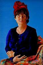 Pete Davies Dama Original en un turbante después de la pintura al óleo arte moderno Vermeer Girl