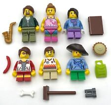 LEGO 6 NEW MINIFIGURES FAMILY MOM DAD KIDS MOTHER FATHER FIGURES ABOY GIRL FIGS