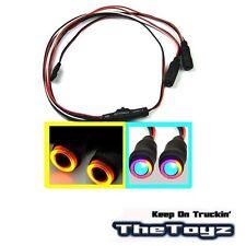 1/10 1/16 1/18 RC Car Angel Halo Eyes LED Headlight Lights TOYZ 701 Yellow Blue.