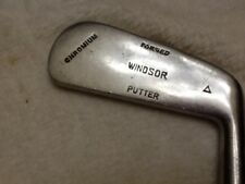 "Hickory Shafted  ""Windsor"" Chromium Golf Putter #9"