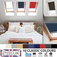 BLACKOUT THERMAL ROLLER ROOF SKYLIGHT BLINDS FOR ALL KEYLITE WINDOWS - 8 COLOURS