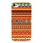 ►► Coque IPHONE 4 ou 5 - AZTEQUE Orange & Bleu BE FASHION!! (case cover aztec)