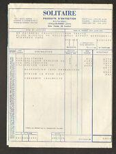 """LEVALLOIS-PERRET (92) PRODUITS D'ENTRETIEN """"SOLITAIRE"""" en 1953"""