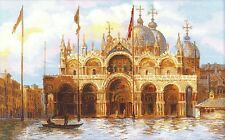 "St Mark's Square Venice Cross Stitch Kit - 23.25"" x 15.75"" - 14 Count (R1127)"