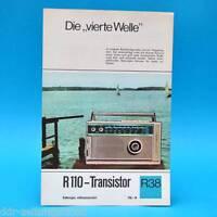 R 110-Transistor 1968 | Prospekt Werbung DEWAG Werbeblatt R38 DDR-Radio C