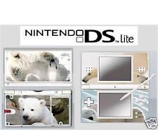 nintendo DS Lite - POLAR BEAR - 4 Piece Decal / Sticker Skin vinyl