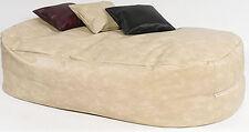 Xxx-l 16cuf *leather Beanbag Bean Bag Sofa Bed Cream