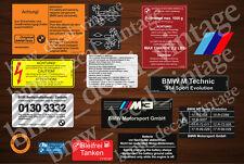 BMW E30 M3 RESTORATION AUFKLEBER DECALS STICKERS SET FULL