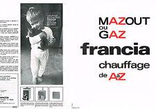 PUBLICITE ADVERTISING 094  1967  FRANCIA  (2p  chauffage mazout ou gaz chaudière