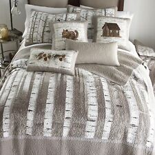 Donna Sharp Birch Forest Quilted Rustic Country Cotton King 3-Piece Set