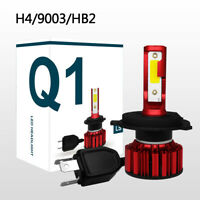 H4/9003/HB2 Q1 LED Headlights 50W 8000LM COB Bulb Kit Hi/Lo Beam 6000K B