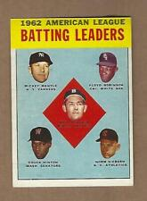 1963  TOPPS   A L  BATTING  LEADERS  MANTLE  #  2