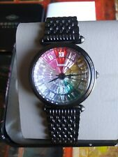 Fossil Limited Edition Black Stainless Steel Rainbow Women's Watch LE1092