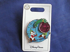 Disney * CHIP & DALE - ELF HAT & ORNAMENT * New on Card Holiday Pin
