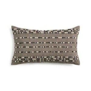 Hotel Collection Beaded Embroidered Linen Decorative Pillow