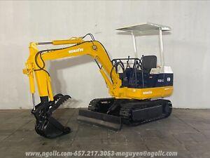 Komatsu PC10-3 Excavator Diesel Steel Tracks w/ Hydraulic Thumb