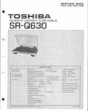 Toshiba Service Manual für SR-Q 630              .