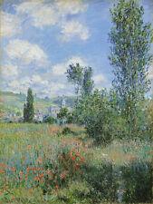 View of Vétheuil by Claude Monet 75cm x 56.5cm Canvas Print