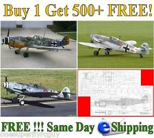 Messerschmitt Me-109 Giant Scale RC Airplane Full Size Plans & Templates on CD