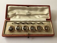 More details for mother of pearl & seed pearl gilt rims gentleman's vintage waistcoat box buttons