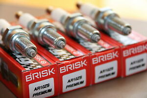 4X BRISK AR10ZS=CR9EIA,RG92DC Spark Plugs YAMAHA R1,R6,FZ1000,FZ6,FZ1,WR 250X/R