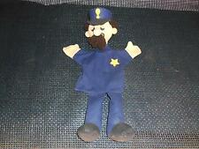 Old Vtg Policeman Hand Puppet Keystone Cop Sheriff Law Enforcement Toy