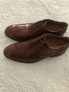 Cole Haan Williams Wingtip II Oxford Bristish Tan Woodbury Shoes Size 9 New