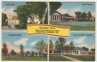 1957 Postmarked Postcard Greetings from New York State Reservations Saratoga