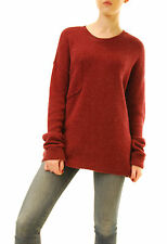 One Teaspoon Women's Chunky Knit Sweater Burgundy Size S RRP $96 BCF612