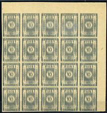 SBZ 10 Pfg. Ziffer 1945** Doppeldruck 20-er Bogenteil Michel 52 geprüft (S10965)