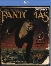 BLU-RAY Fantômas (Blu-Ray) NEW 5 Films on 2 Discs Louis Feuillade's