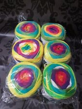 BIG CAKE YARN PACKS KNITTING CROCHET WOOL BALLS. 6 X 150g JOBLOT WHOLESALE NEW