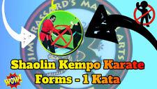 Shaolin Kempo Karate Forms 1 Kata Course - Gm Jim Brassard